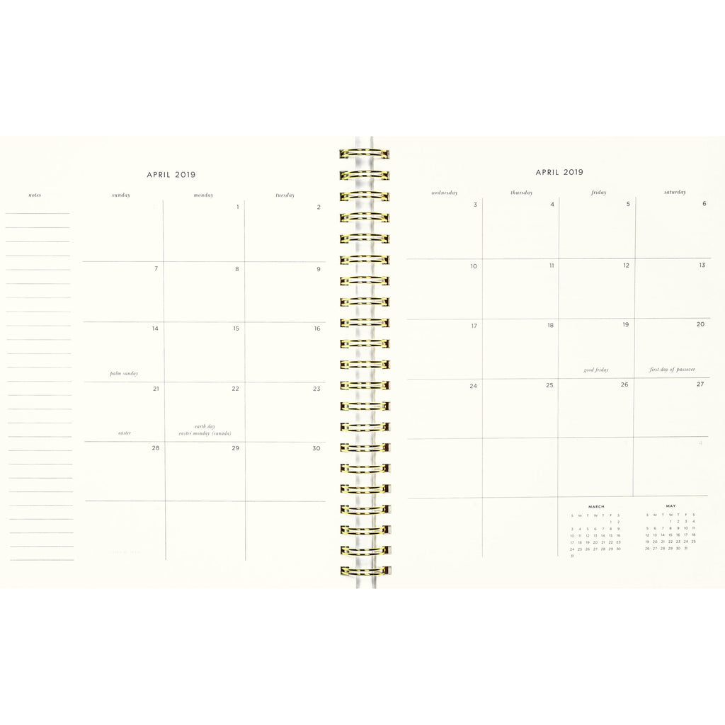 kate spade new york Medium Planner, Gold Floral (Aug-Aug)