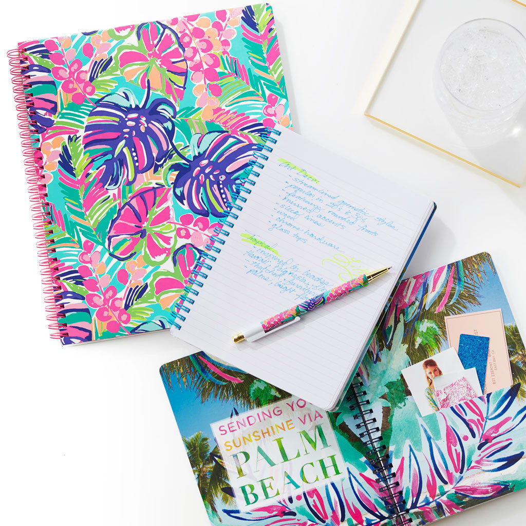 Lilly Pulitzer Large Notebook - Lover's Coral