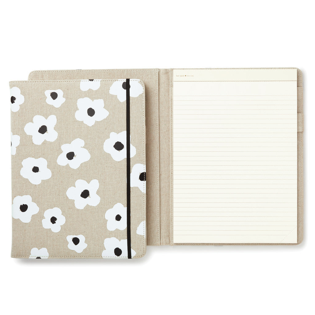 kate spade new york notepad folio - faye floral