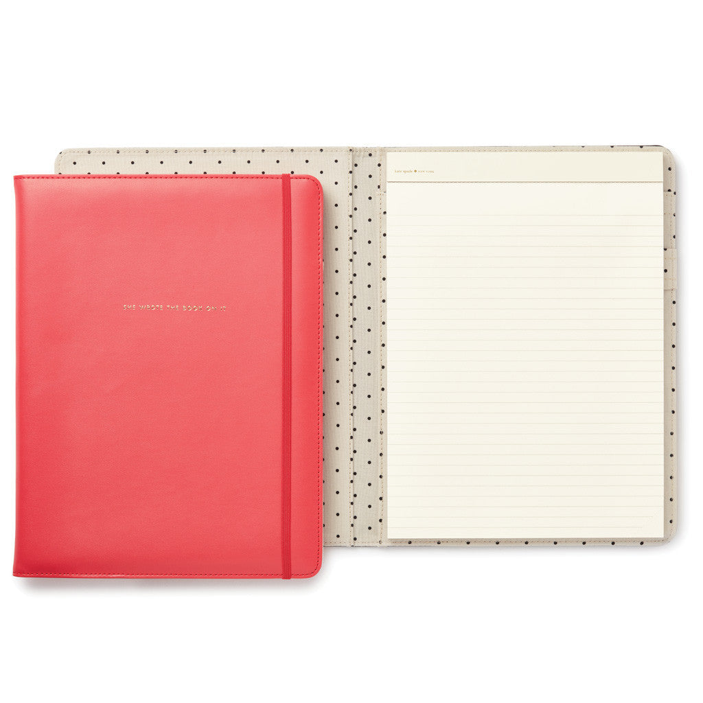 kate spade new york notepad folio - she wrote the book on it