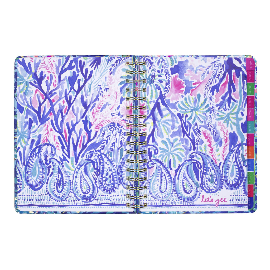 lilly pulitzer 17 month large agenda - Party wave