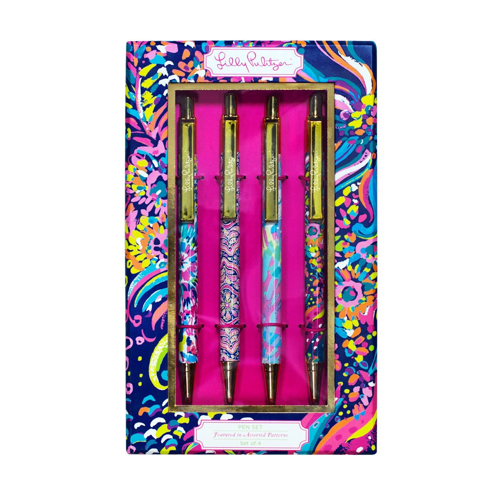 Lilly Pulitzer pen set, assorted patterns