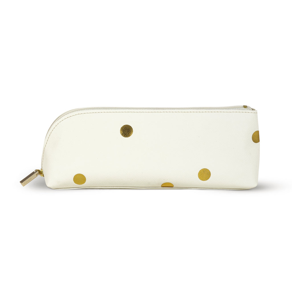 kate spade new york Pencil Case, Gold Dots