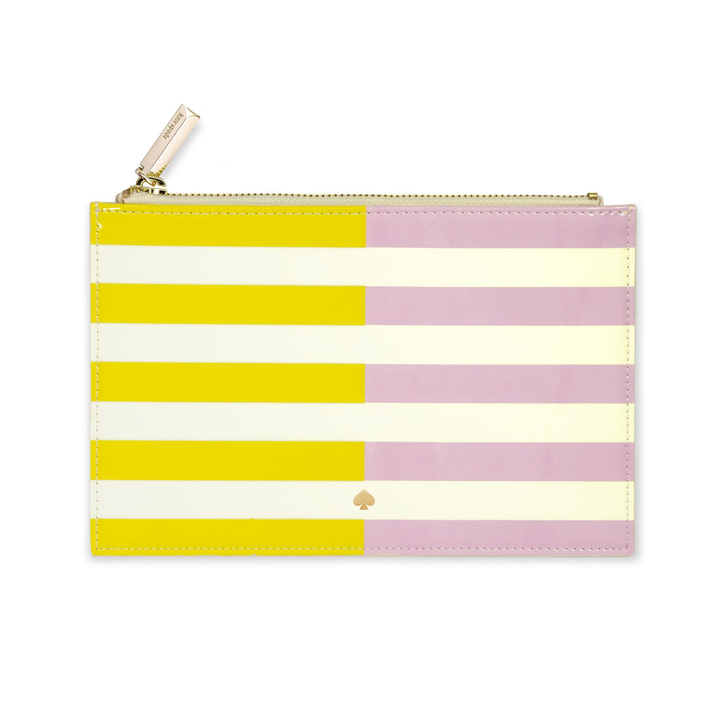 kate spade new york Pencil Pouch, Two-tone Stripe