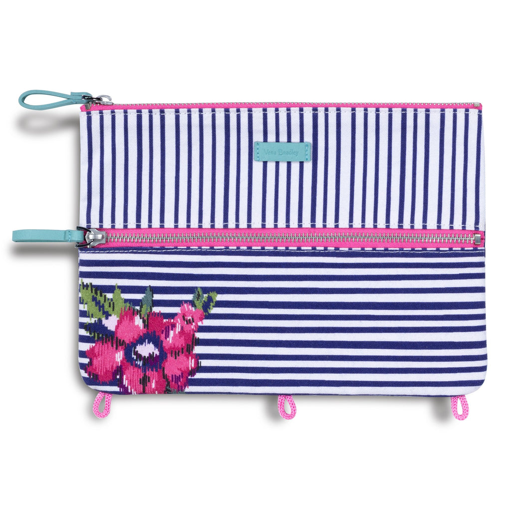 Vera Bradley Pencil Pouch, water bouquet stripe