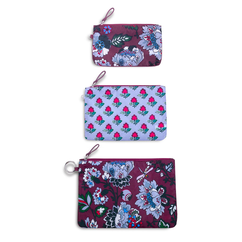 Vera Bradley Trio Bag Set, Bordeaux Blooms