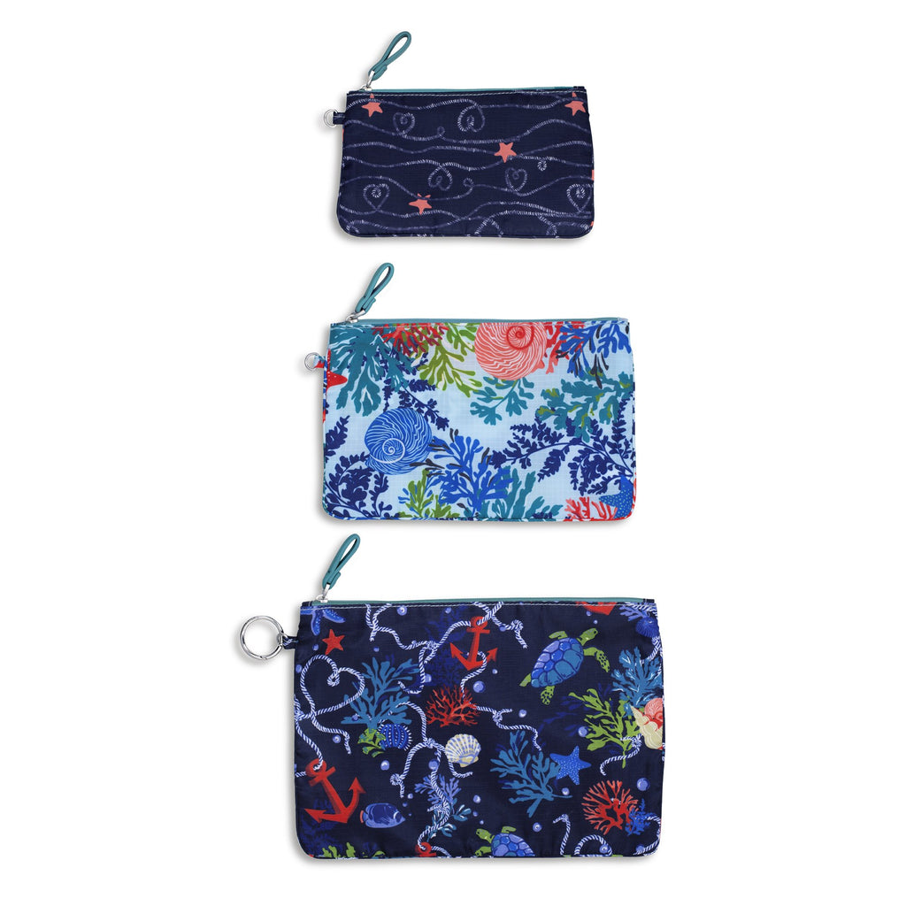 Pencil Pouch Trio, Shore Thing