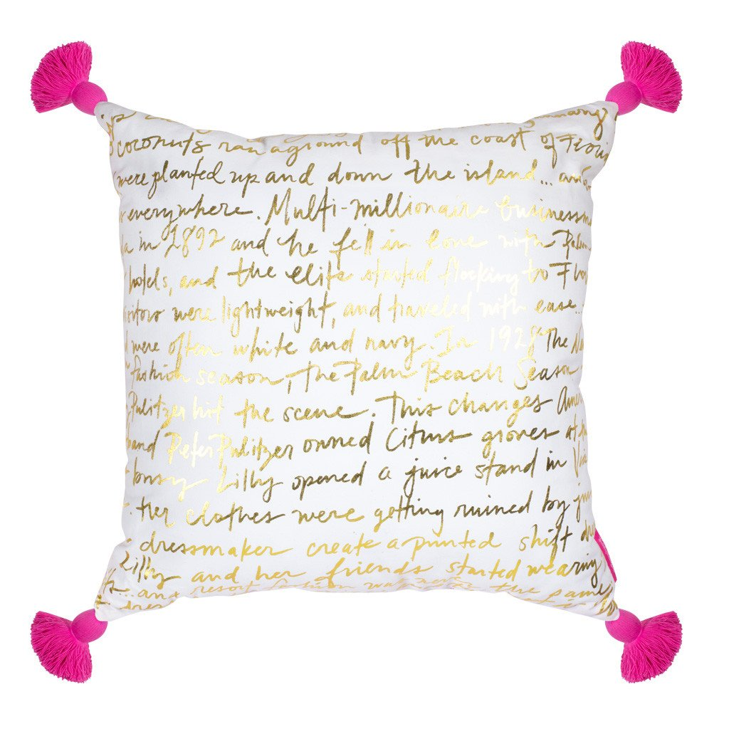 Lilly Pulitzer Large Pillow, Palms