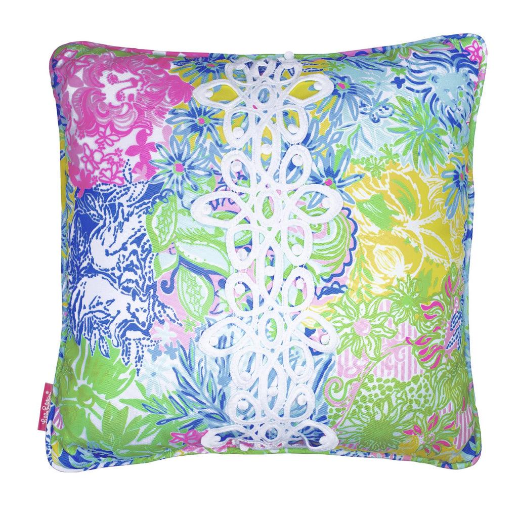 Lilly Pulitzer Large Pillow, Cheek To Cheek