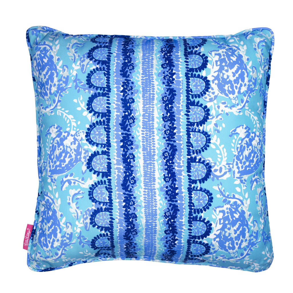 Lilly Pulitzer Large Pillow, Turtley Awesome