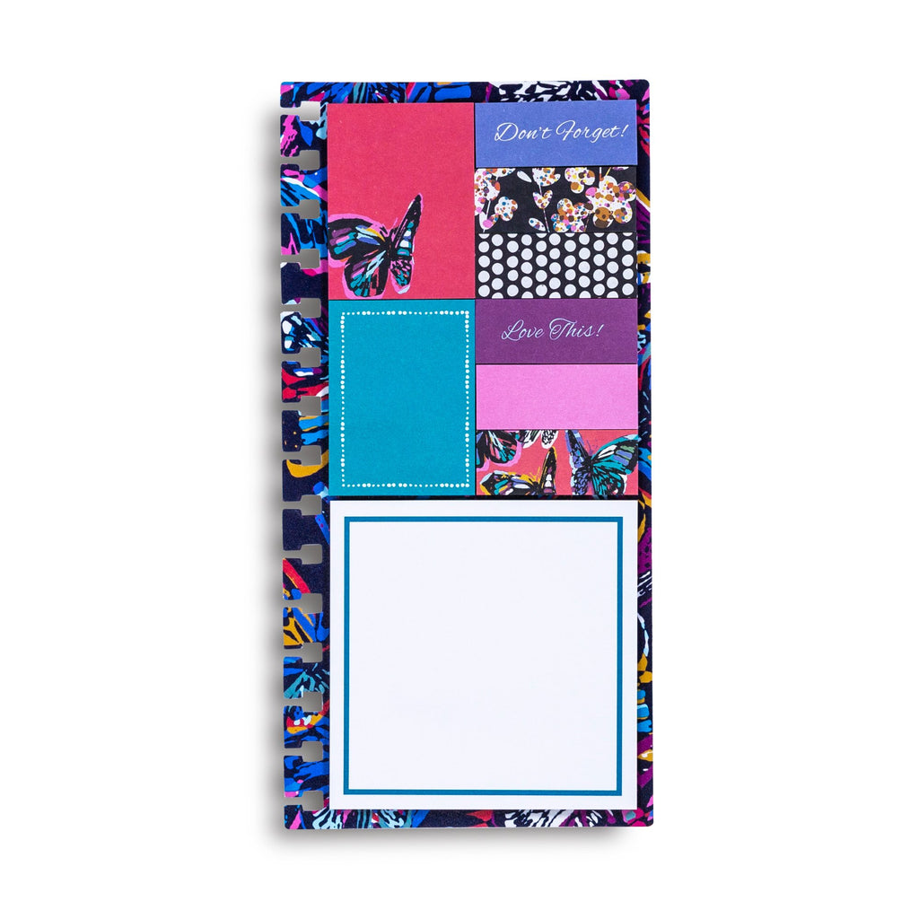 Vera Bradley Planner Sticky Notes, Butterfly Flutter