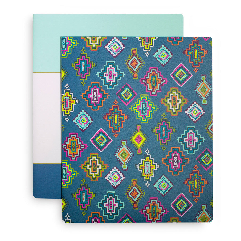 Vera Bradley Pocket Folders - Painted Medallions
