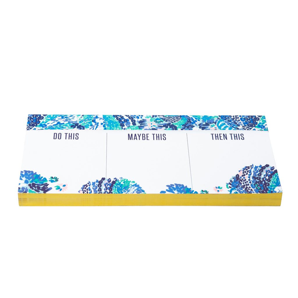Lilly Pulitzer Priorities Notepad, Wave After Wave