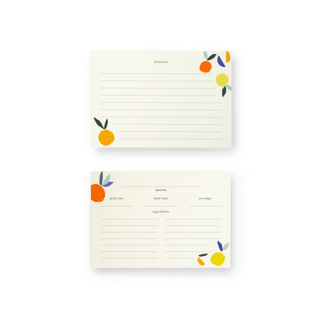 kate spade new york Recipe Card Refills, citrus twist