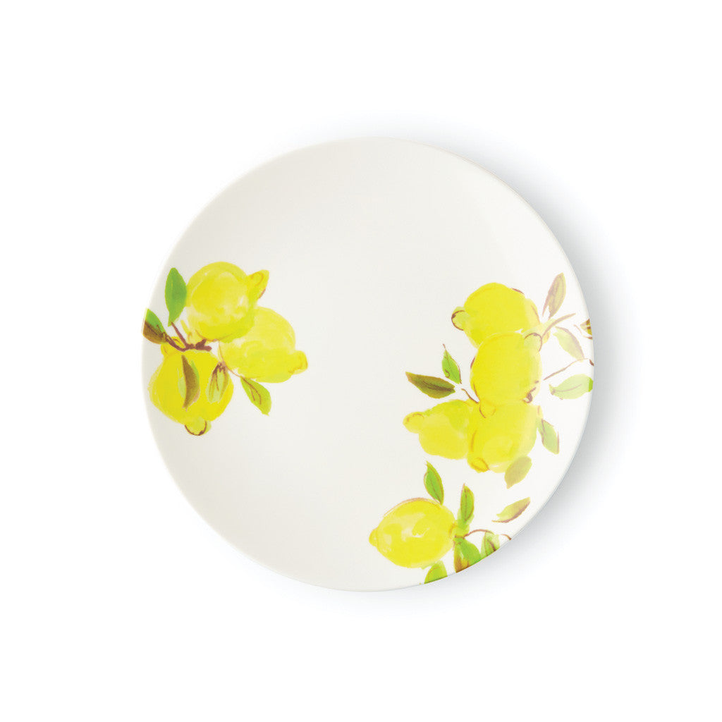 kate spade new york melamine salad/accent plate - lemons  sc 1 st  Lifeguard Press & kate spade new york melamine salad/accent plate - lemons - Lifeguard ...