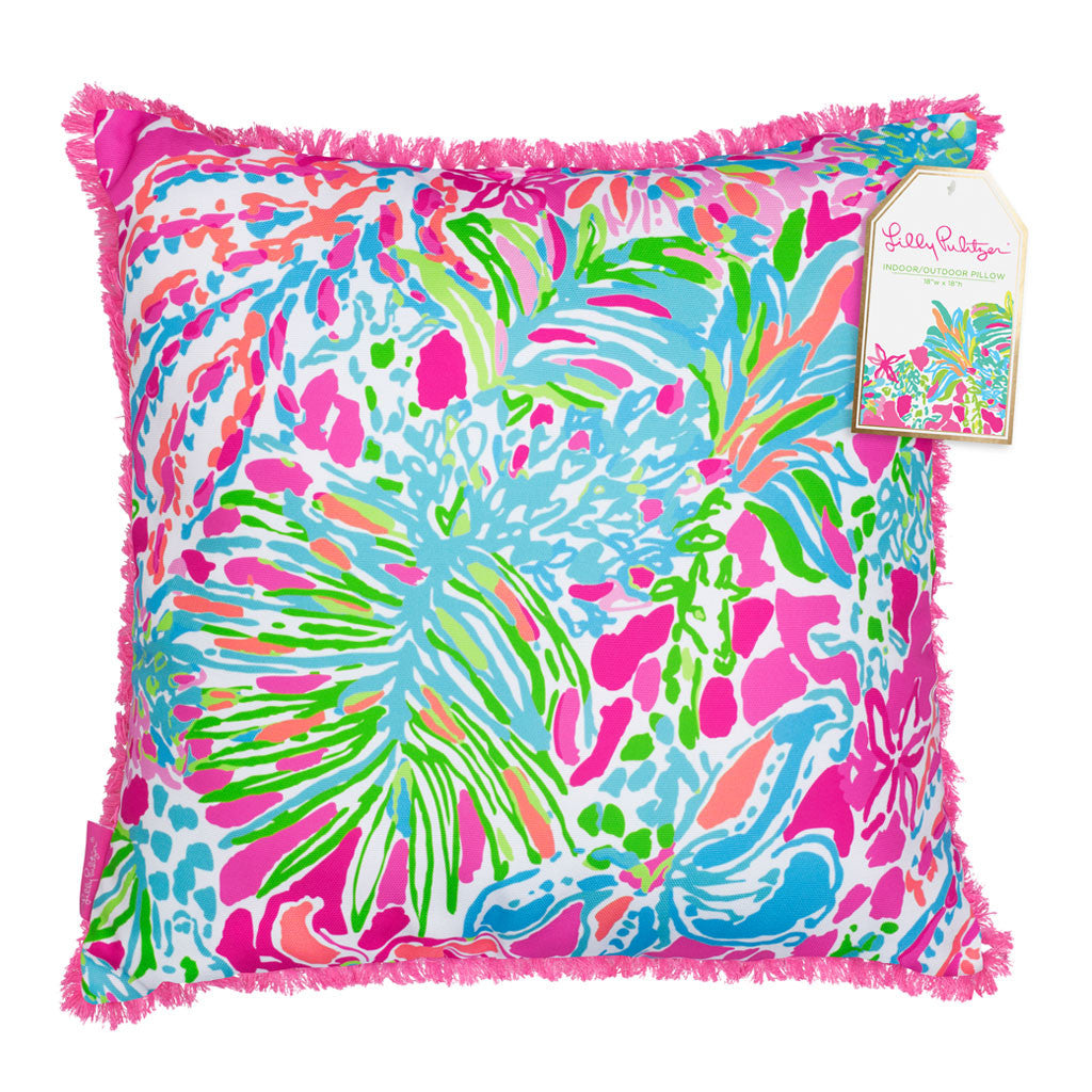 Lilly Pulitzer Large Pillow - Spot Ya - lifeguard-press - 1