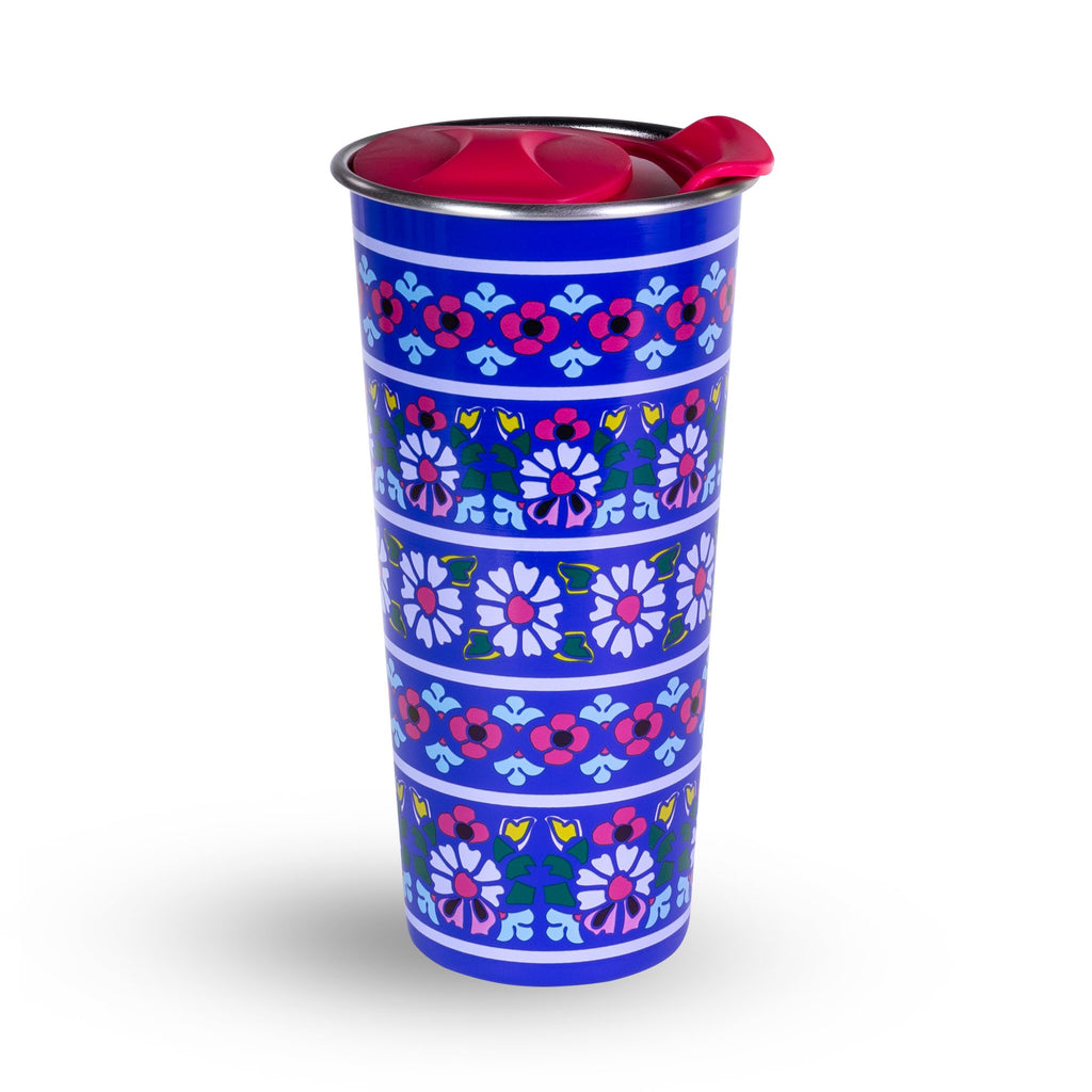 Vera Bradley Stainless Steel Travel Mug, Romantic Paisley