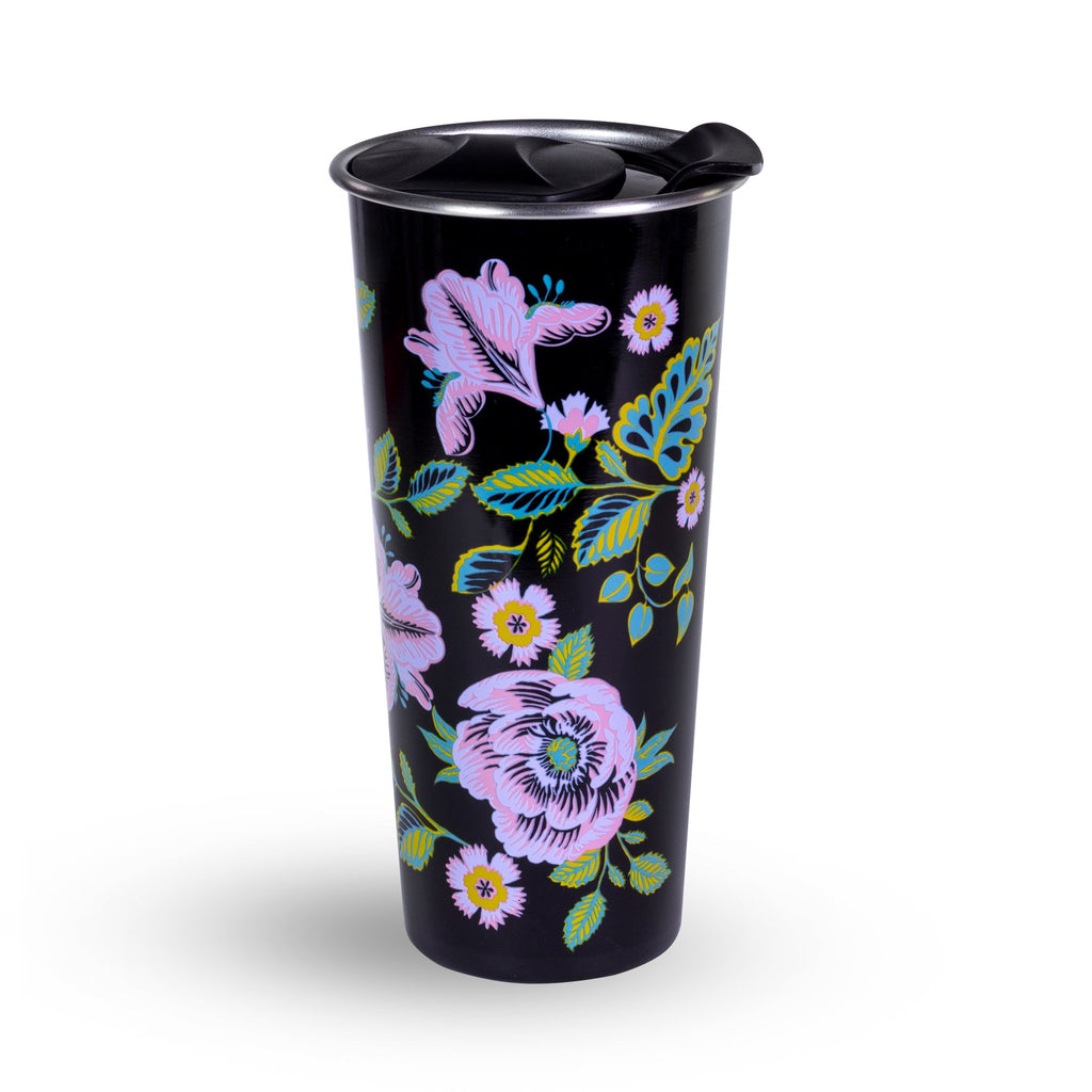 Vera Bradley Stainless Steel Travel Mug, Vines Floral