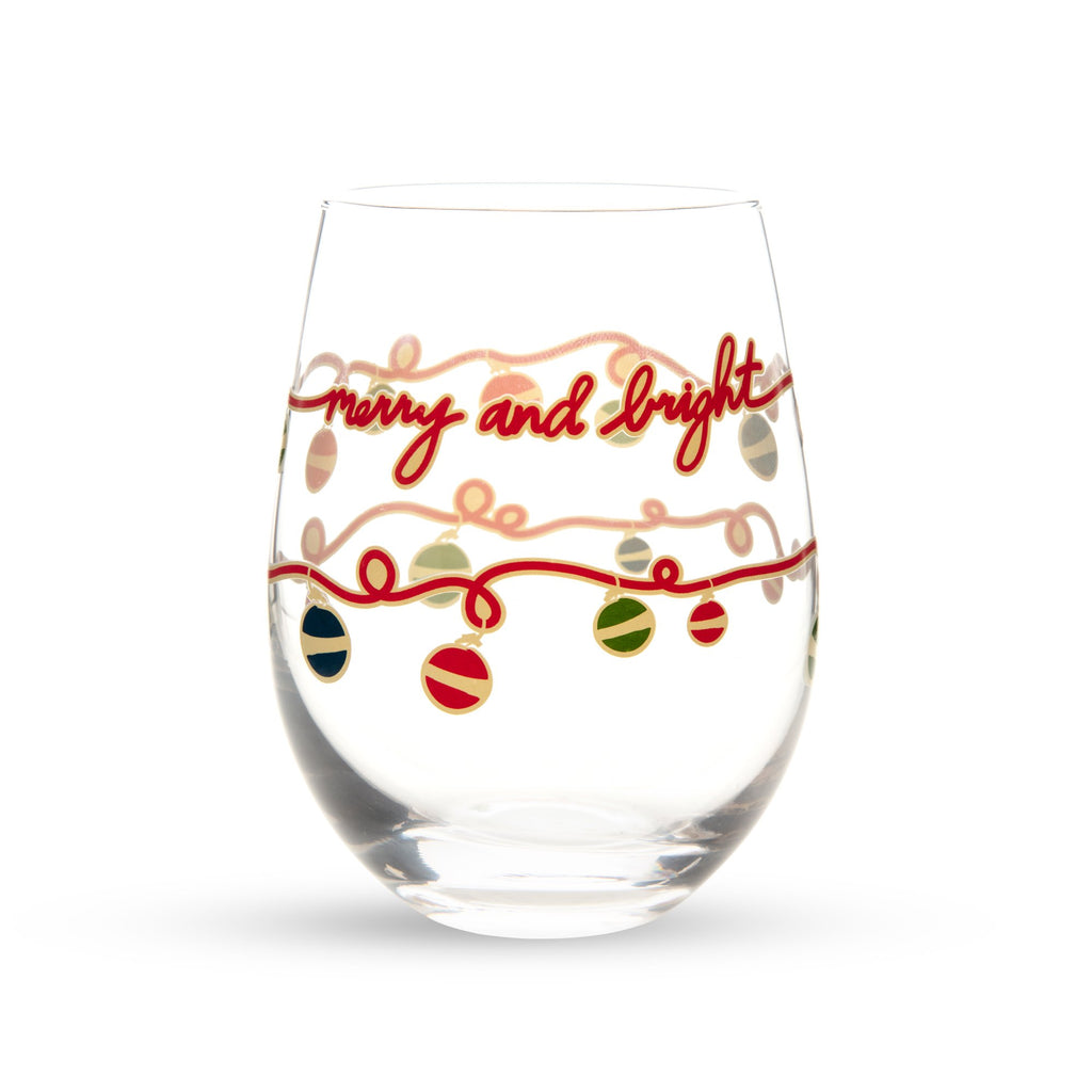 Vera Bradley Stemless Wine Glass set, Ornament