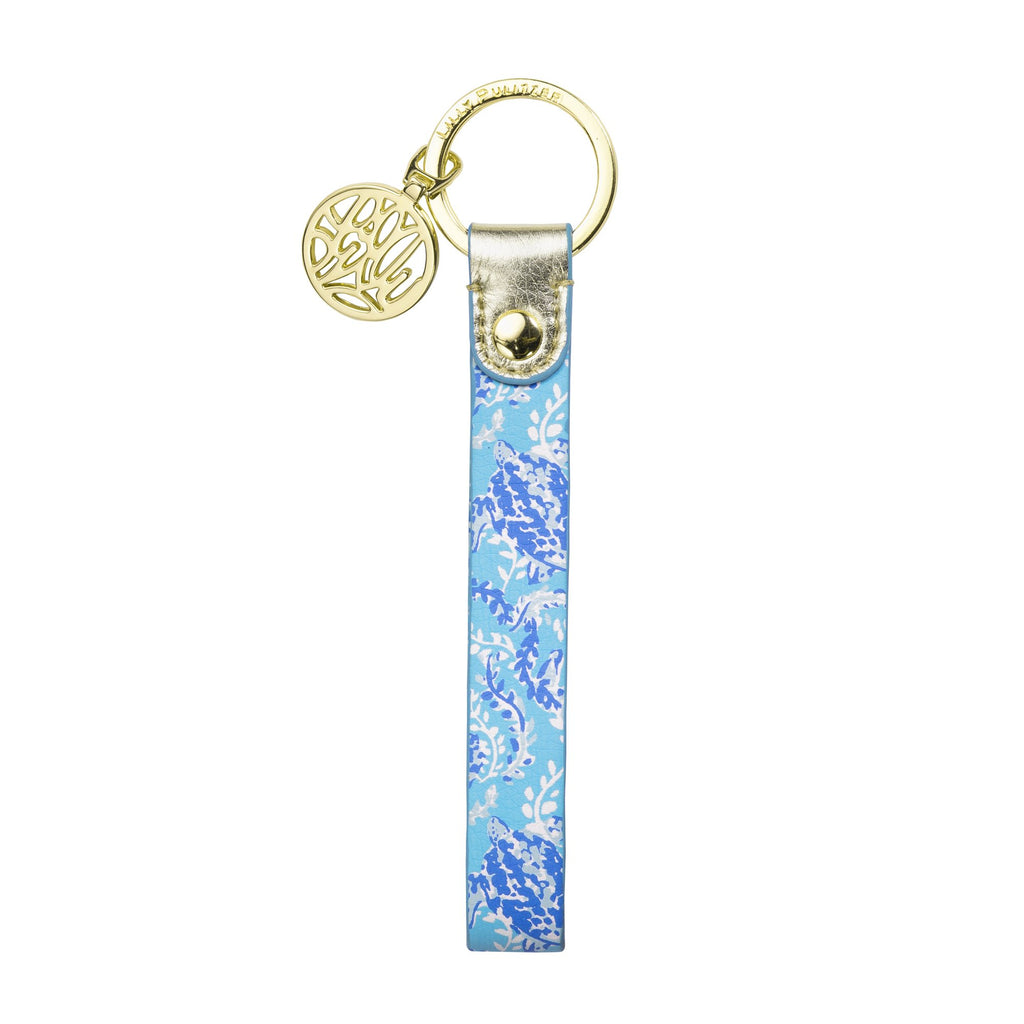 Lilly Pulitzer Strap Keyfob, Turtley Awesome