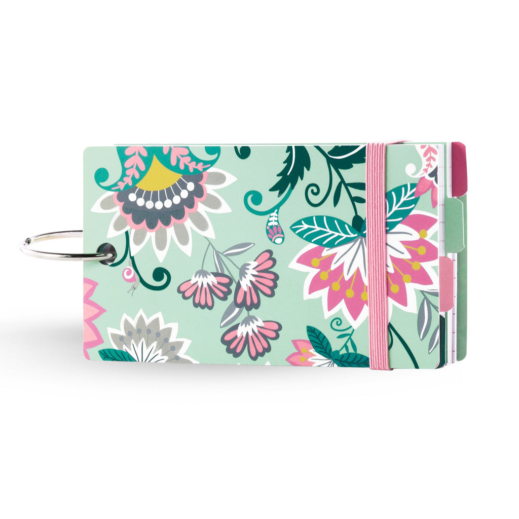 Vera Bradley Study Buddy Notecards, Mint Flowers