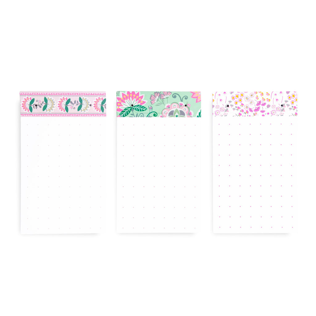 Vera Bradley Tab Notes, Mint Flowers