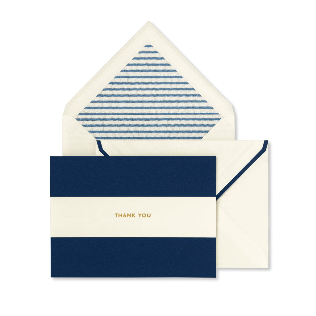 kate spade new york Thank You Card Set - Navy Stripe
