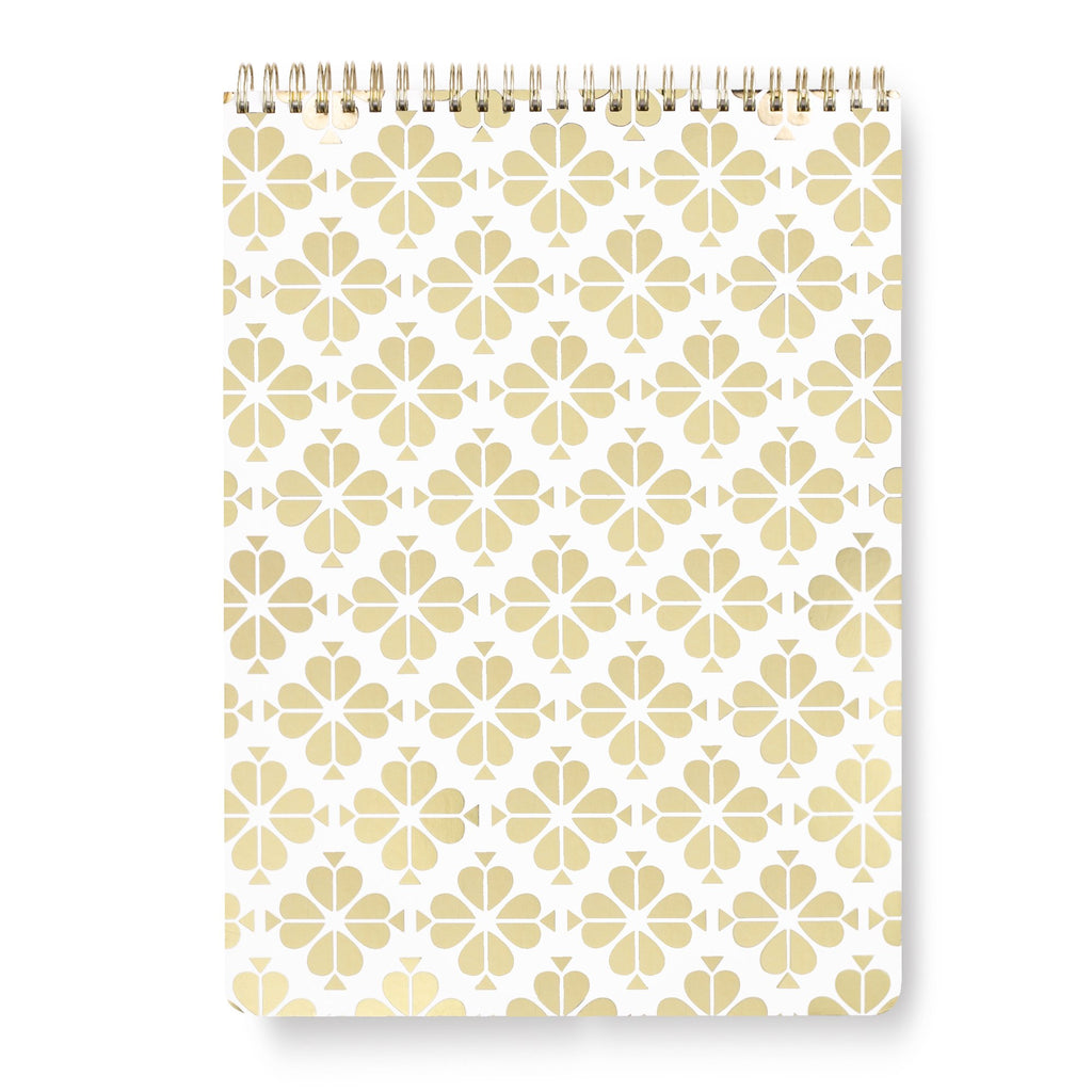 kate spade new york Top Spiral Large Notebook, Gold Spade Flower