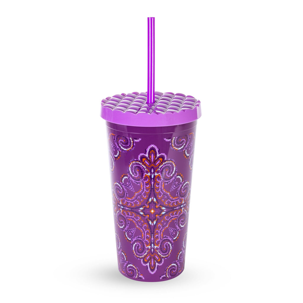 Vera Bradley Tumbler With Straw, Dream Tapestry