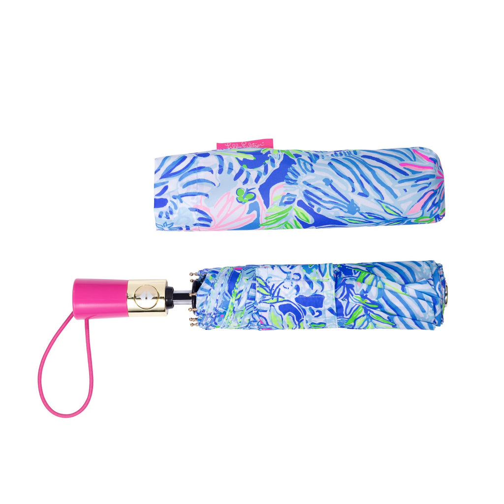 Lilly Pulitzer Travel Umbrella, Lion Around