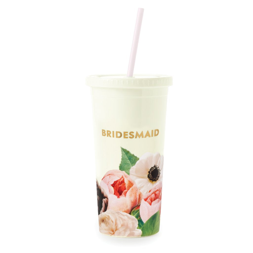 kate spade new york Bridesmaid Tumbler with Straw - Blushing Floral