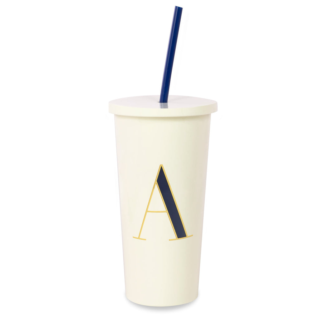 kate spade new york Initial Tumbler With Straw, A
