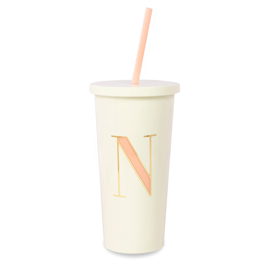 kate spade new york Initial Tumbler With Straw, N