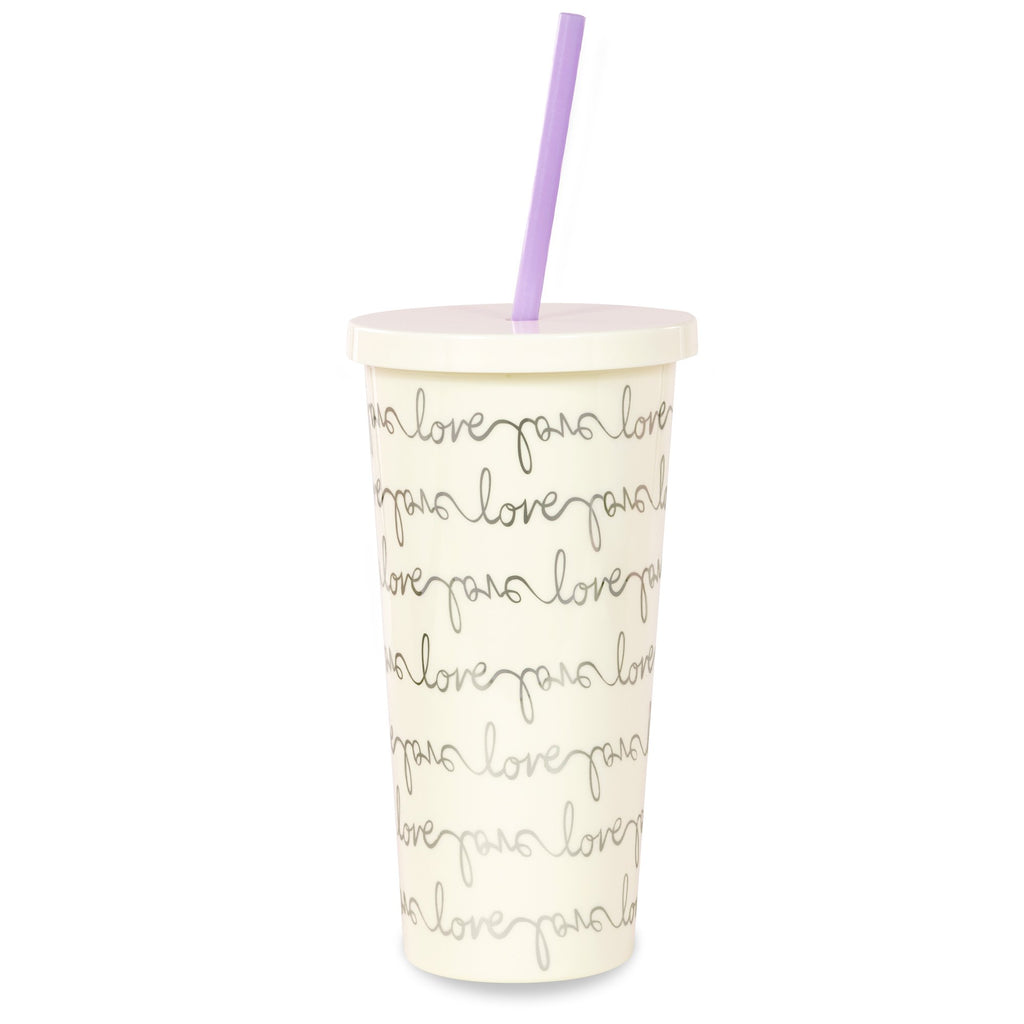 kate spade new york Insulated Tumbler, Love Script