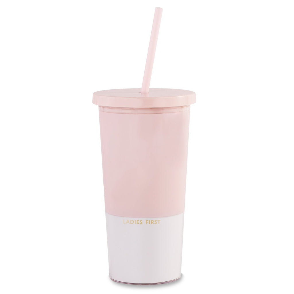 kate spade new york Tumbler With Straw, Ladies First