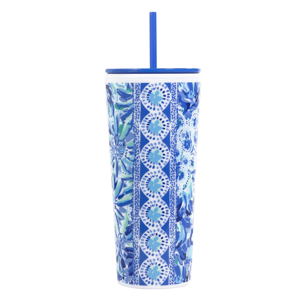 Lilly Pulitzer Tumbler with Straw, High Manetenance