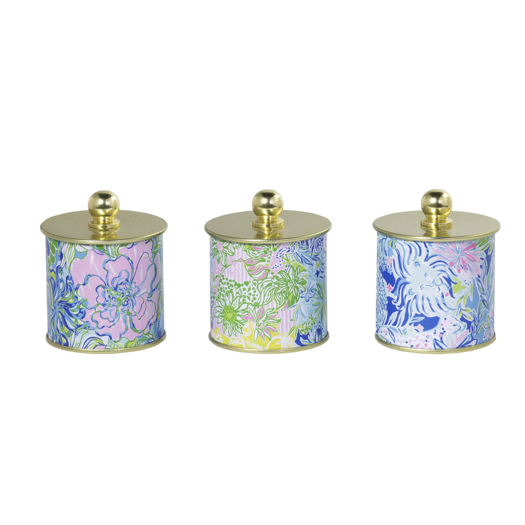 Lilly Pulitzer Candle Votive Set, cheek to cheek