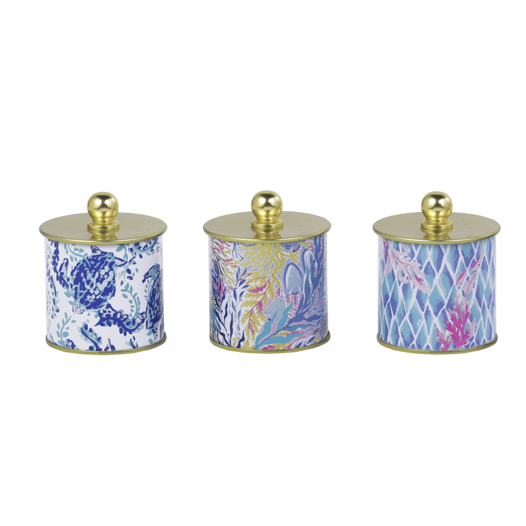 Lilly Pulitzer Candle Votive Set, Kaleidoscope Coral