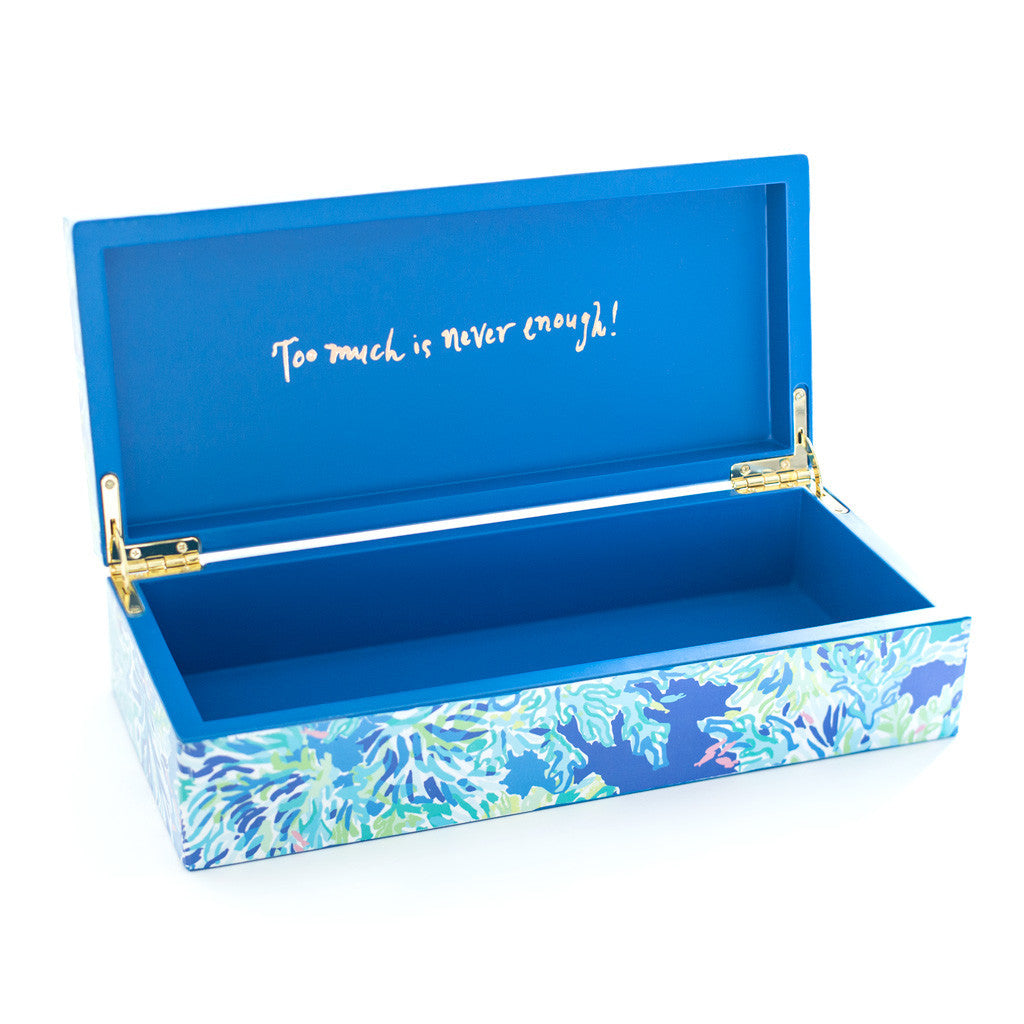 Lilly Pulitzer Lacquer Box (Large), Wade and Sea