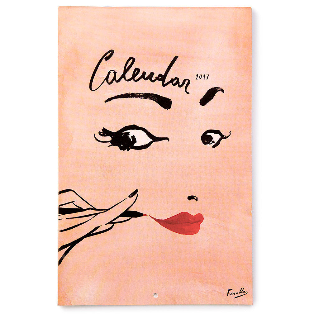 kate spade new york read my lips 12-month wall calendar - lifeguard-press - 1