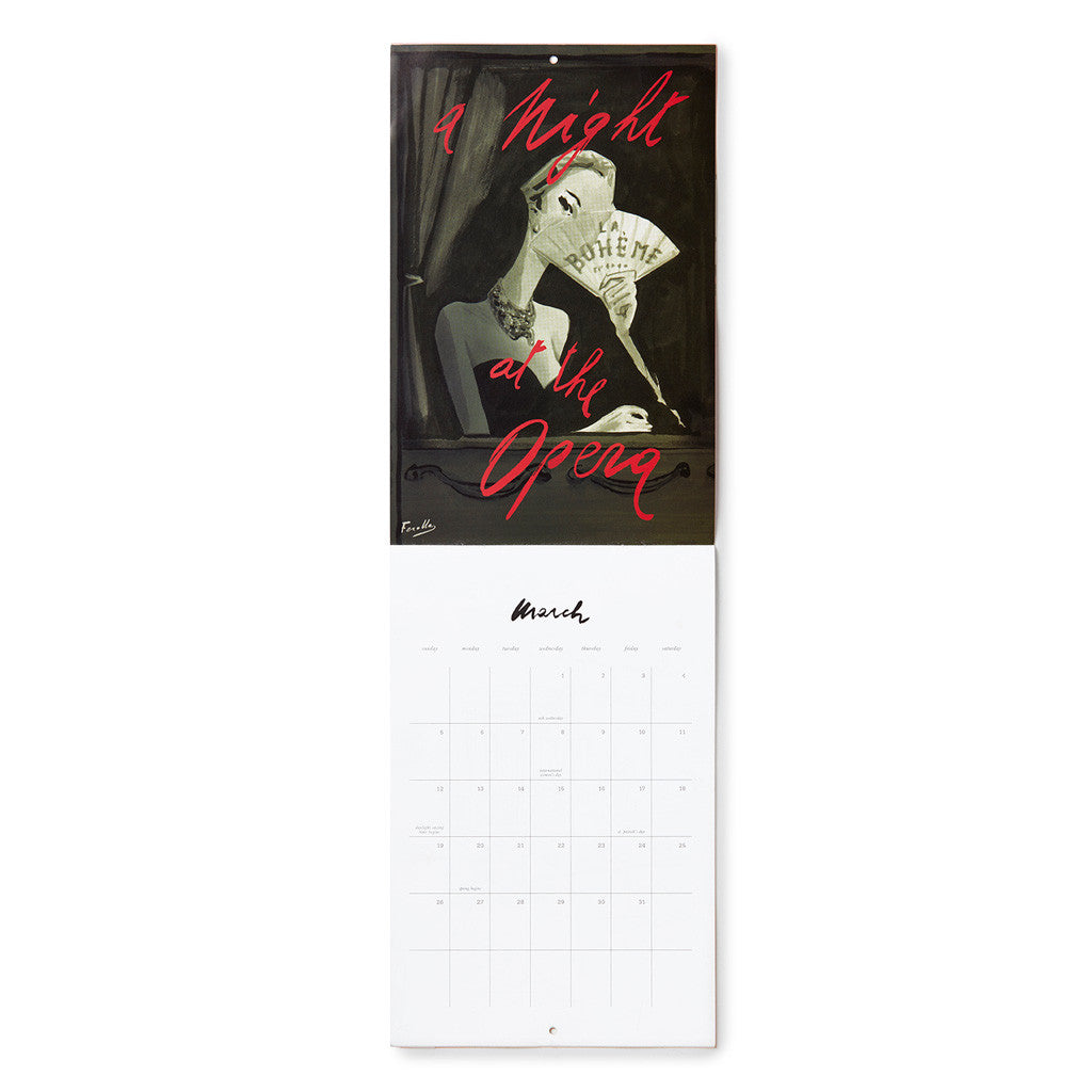 kate spade new york read my lips 12-month wall calendar - lifeguard-press - 2