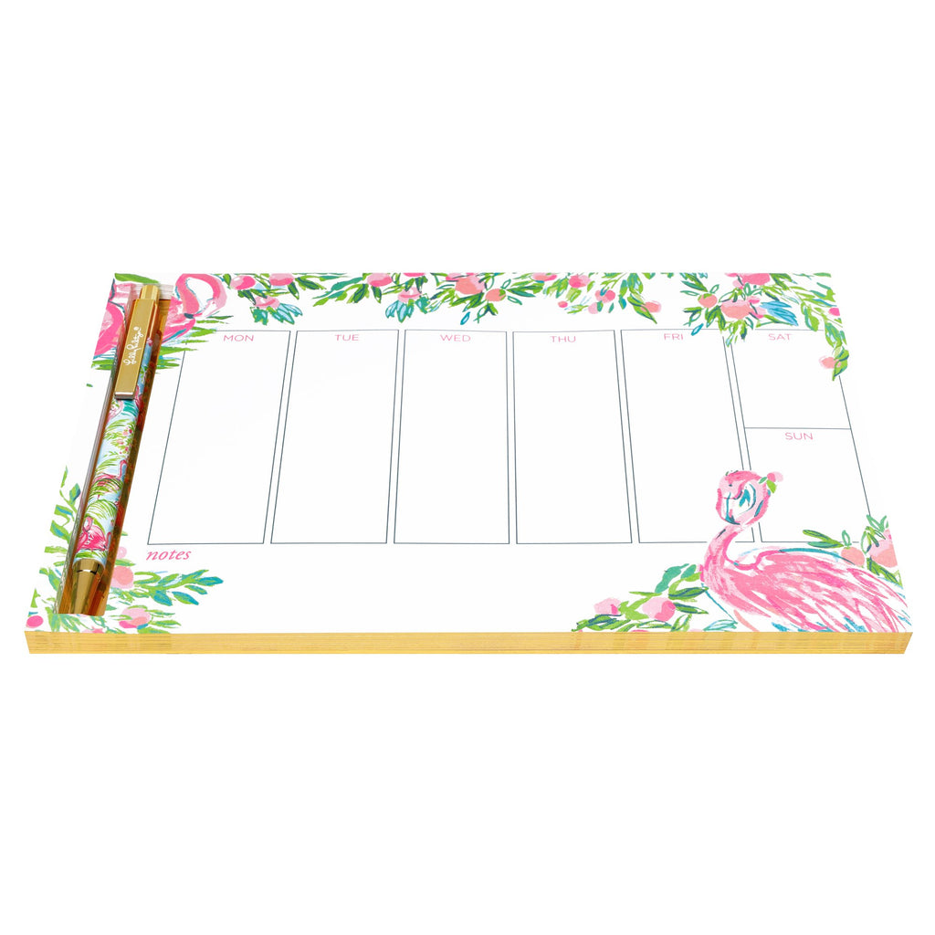 Lilly Pulitzer Weekly Desk Pad, Floridita