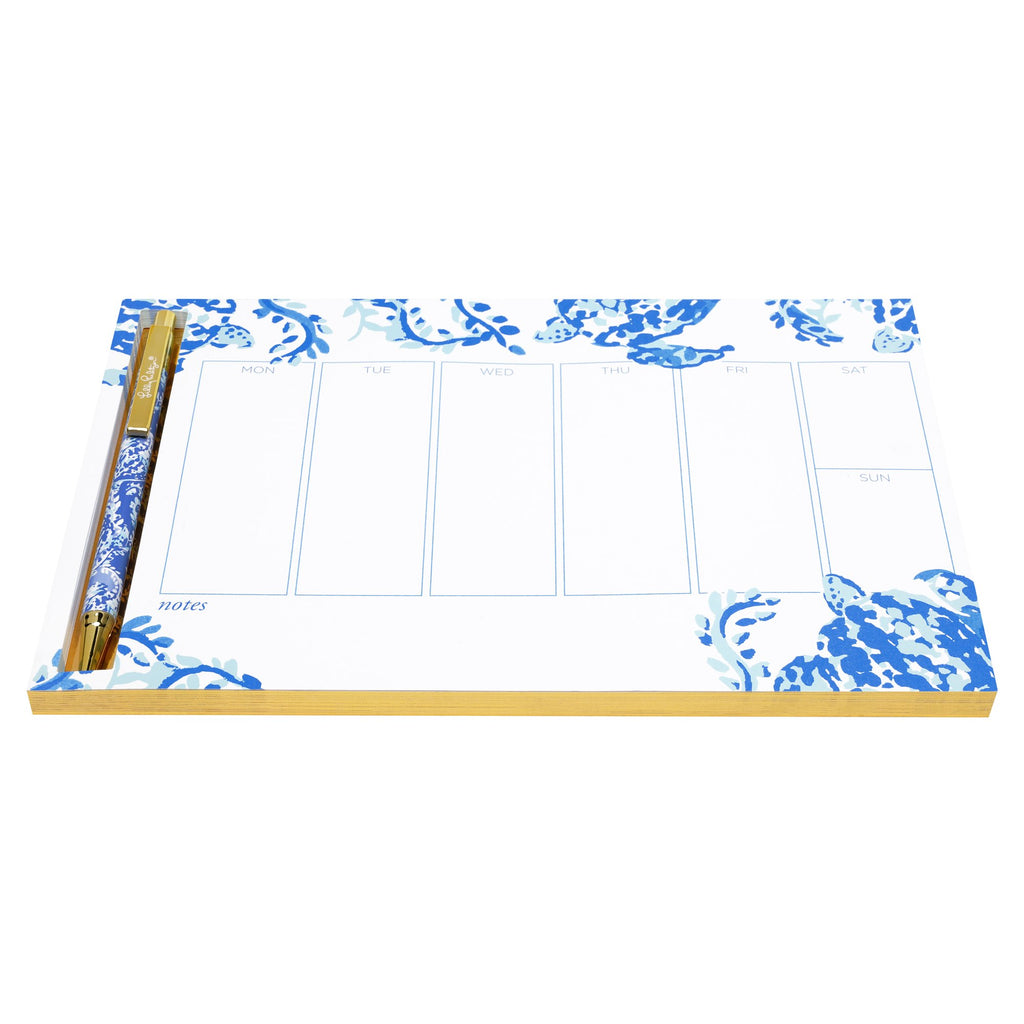 Lilly Pulitzer Weekly Desk Pad, Turtley Awesome