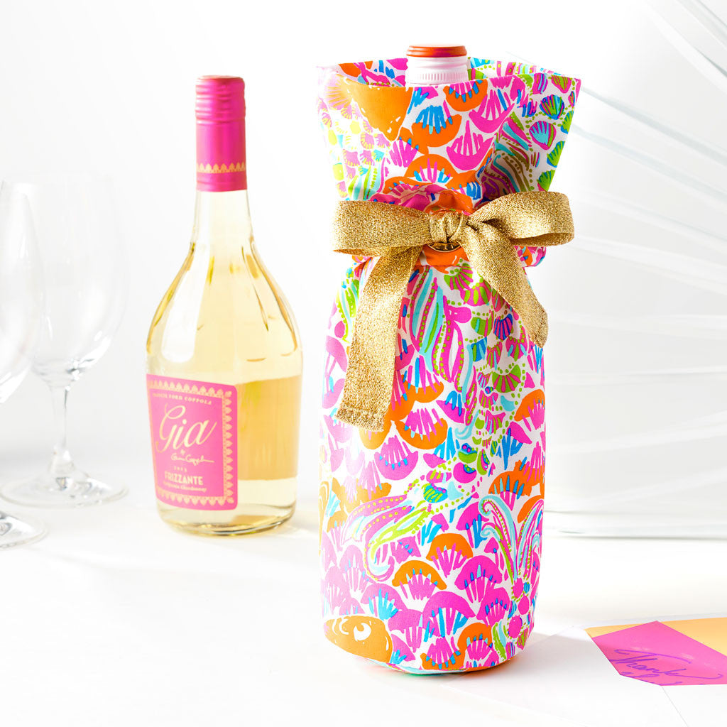 Lilly Pulitzer Wine Tote - Lover's Coral - lifeguard-press - 2