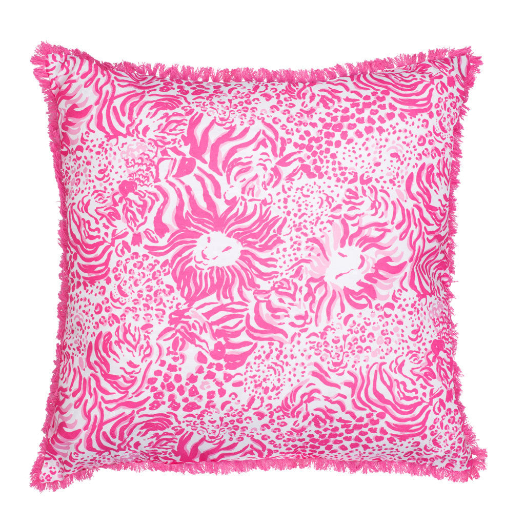 Lilly Pulitzer Large Pillow - Zoo Party - lifeguard-press - 2