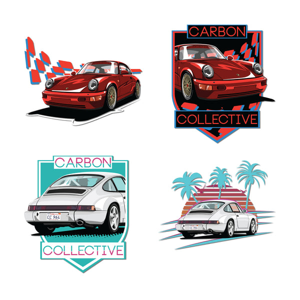 Carbon Collective 964 Sticker Pack