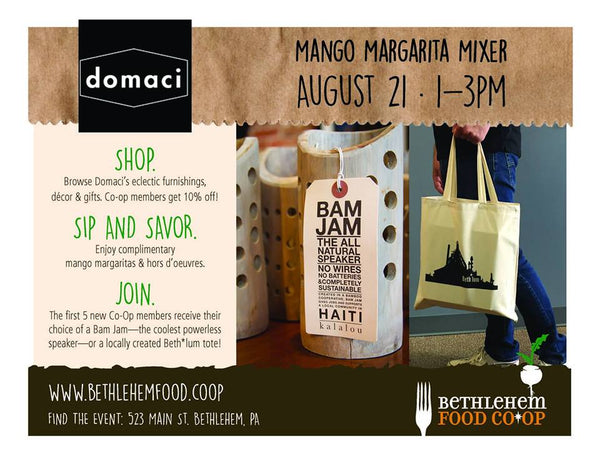 Bethlehem Food Co-op Mixer at Domaci