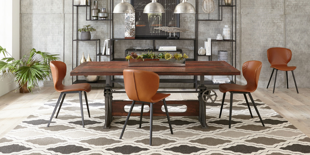Industrial Crank Dining Tables