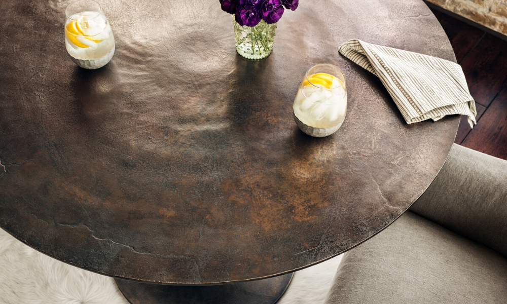 How to care for metal table top