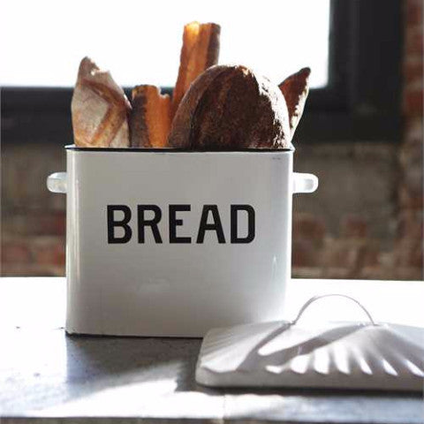 Urban Farmhouse Enameled Bread Box